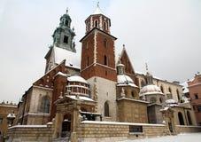 Cattedrale sul castello di Wawel Fotografie Stock Libere da Diritti