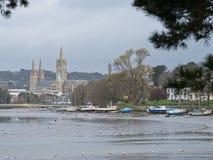 Cattedrale sul fiume di Truro Fotografia Stock Libera da Diritti