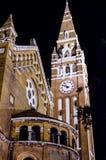Cattedrale sul quadrato principale di Seghedino, Ungheria immagini stock libere da diritti