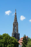 Cattedrale superiore Germania Europa del nster del ¼ di Ulm MÃ della guglia Immagini Stock