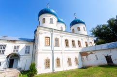 Cattedrale trasversale santa 1763 al ` s Yuriev Orthodo di St George fotografia stock libera da diritti