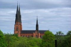 Cattedrale a Upsala, Svezia Fotografie Stock