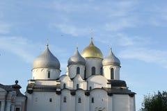 Cattedrale in Velikiy Novgorod Fotografia Stock Libera da Diritti
