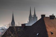 Cattedrale a Zagabria immagine stock libera da diritti