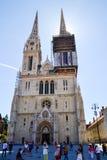 Cattedrale a Zagabria, Croatia Fotografia Stock