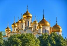 Cattedrali nel Cremlino immagine stock libera da diritti