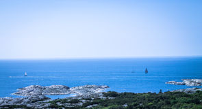 The Cattegat sea from Carlstens Fortress in Marstrand. Carlstens Fortress in Marstrand on the west coast of Sweden. Image taken from the highest point of Royalty Free Stock Image