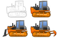 Catterpillar tractor Royalty Free Stock Photo
