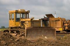 Catterpillar Traktor Stockfotografie