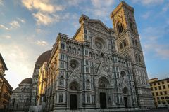 Catthedral of Florence, Italy, early in the morning stock photography