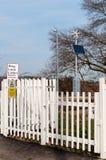 Cattishall railway crossing, Bury St Edmunds, England, UK Royalty Free Stock Photos
