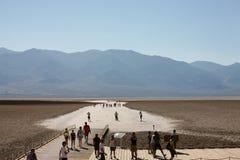 Cattiva acqua, Death Valley fotografia stock