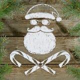 Cattiva cartolina di Natale di Santa Fotografia Stock Libera da Diritti