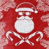 Cattiva cartolina di Natale di Santa Immagine Stock Libera da Diritti