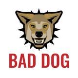 Cattiva illustrazione di vettore del manifesto del cane su bianco Guardi da dei cani royalty illustrazione gratis