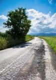 Cattiva strada incrinata Fotografia Stock