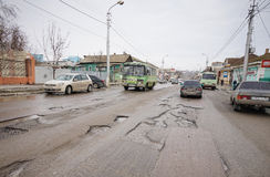 Cattiva strada russa fotografia stock libera da diritti