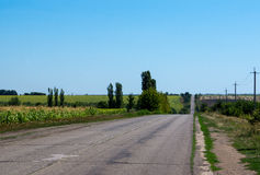 cattiva strada in Ucraina fotografie stock