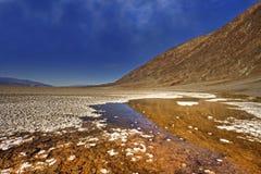Cattive acque di Death Valley Fotografie Stock