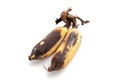 Cattive banane su fondo bianco isolato Fotografia Stock Libera da Diritti