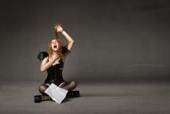 Cattive notizie della donna fotografia stock libera da diritti