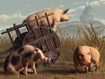 Cattivi maiali illustrazione vettoriale