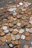 Cattivi soldi arrugginiti, concetto di inflazione Fotografia Stock Libera da Diritti