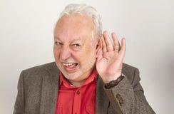 Cattivo anziano di udienza fotografie stock