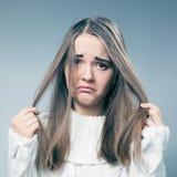 Cattivo giorno dei capelli Fotografie Stock Libere da Diritti