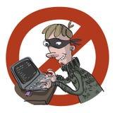 Cattivo pirata informatico Immagine Stock