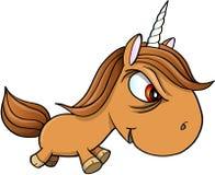 Cattivo Unicorn Vector Illustration Art duro Immagine Stock Libera da Diritti
