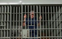Cattivo uomo, prigione, prigioniero, condannato Fotografie Stock Libere da Diritti