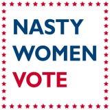 Cattivo voto delle donne - iscrizione avveduta Fotografia Stock Libera da Diritti