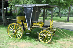 Cattle Cart. Old fashioned Cart drawn by horses or cattle Stock Image
