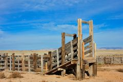 Cattle Chute in Utah Desert stock image