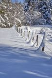 Cattle Fence Covered In Snow Royalty Free Stock Photos