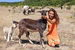 Cattle girl Stock Image