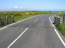 Cattle Grid from road. Cattle grid in North Yorkshire Moors, UK royalty free stock photo