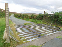 Cattle grid in the Scottish Highlands WB DN Royalty Free Stock Image