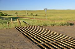 Cattle guard crosing Royalty Free Stock Images