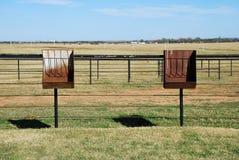 Cattle / Horse Feeder in the pen Stock Photos