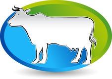 Cattle logo design Royalty Free Stock Photo