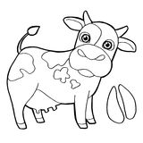 Cattle  with paw print Coloring Pages vector Royalty Free Stock Photography