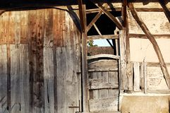 Cattle-shed wall Stock Photos