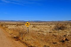 Cattle signs warning motions of driving with caution Royalty Free Stock Photography