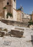 Cattle Trough in Caveoso Sassi Stock Photos