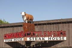 Cattlemen da churrasqueira em Fort Worth, TX, EUA Imagens de Stock Royalty Free