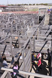 A Cattlepen Maze at the Fort Worth Stockyards Stock Photography