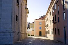 Cattolicesimo barrocco nazionale di Lisbona Portogallo del panteon, la chiesa del ¡ CIA del engrà di Santa Immagini Stock Libere da Diritti