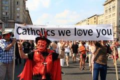 Cattolici lo amiamo fotografie stock